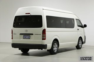 2013 Toyota HiAce KDH223R MY12 Upgrade Commuter White 5 Speed Manual Bus