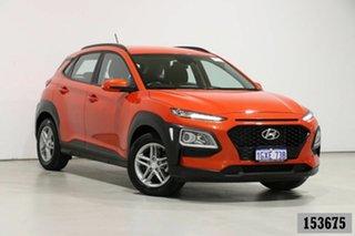 2019 Hyundai Kona OS.2 MY19 Active (FWD) Orange 6 Speed Automatic Wagon.