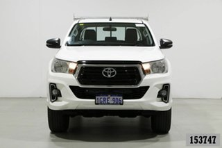2018 Toyota Hilux GUN126R MY19 SR (4x4) White 6 Speed Manual Double Cab Pick Up.