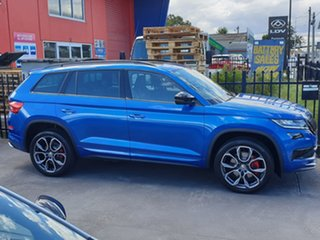2019 Skoda Kodiaq NS MY20 RS DSG Blue 7 Speed Sports Automatic Dual Clutch Wagon.