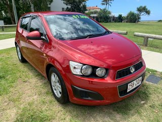 2011 Holden Barina TM Red 6 Speed Automatic Hatchback.
