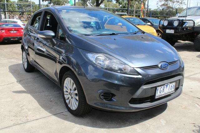 Used Ford Fiesta WT LX West Footscray, 2010 Ford Fiesta WT LX Grey 6 Speed Automatic Hatchback