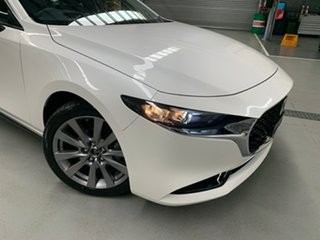 2020 Mazda 3 BP2S7A G20 SKYACTIV-Drive Touring Snowflake White 6 Speed Sports Automatic Sedan.