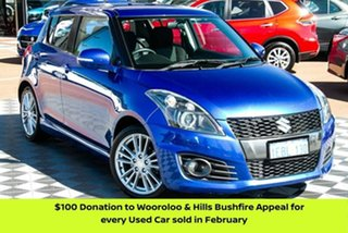 2012 Suzuki Swift FZ Sport Blue 7 Speed Constant Variable Hatchback.