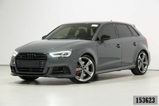 2020 Audi S3 8V MY20 2.0 TFSI Quattro Grey 7 Speed Auto S-Tronic Sportback.
