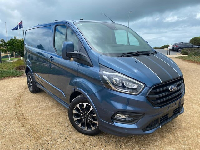 Used Ford Transit Custom VN 2019.75MY 320S (Low Roof) Sport Christies Beach, 2019 Ford Transit Custom VN 2019.75MY 320S (Low Roof) Sport Blue 6 Speed Automatic Van