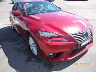 2015 Lexus IS300H AVE30R MY16 Luxury Hybrid Red Continuous Variable Sedan