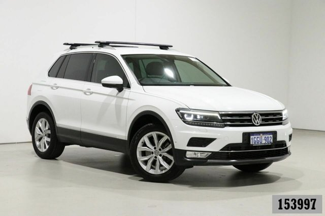 Used Volkswagen Tiguan 5NA 140 TDI Highline Bentley, 2017 Volkswagen Tiguan 5NA 140 TDI Highline White 7 Speed Auto Direct Shift Wagon