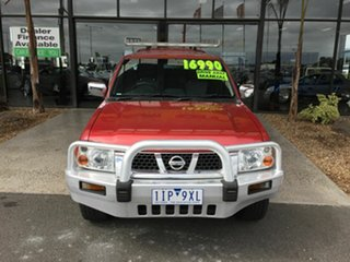 2006 Nissan Navara D22 ST-R (4x4) Red 5 Speed Manual Dual Cab Pick-up.