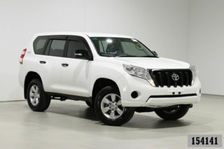 2014 Toyota Landcruiser Prado KDJ150R MY14 GX (4x4) White 5 Speed Sequential Auto Wagon.