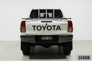 2015 Toyota Hilux GUN126R SR (4x4) White 6 Speed Manual Dual Cab Utility