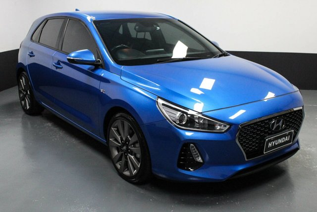 Used Hyundai i30 PD MY18 SR D-CT Hamilton, 2017 Hyundai i30 PD MY18 SR D-CT Blue 7 Speed Sports Automatic Dual Clutch Hatchback
