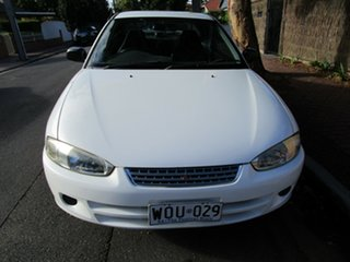 2001 Mitsubishi Lancer CE GLi White 4 Speed Automatic Coupe.