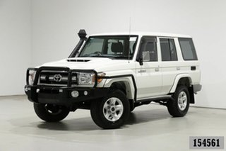 2020 Toyota Landcruiser 70 Series VDJ76R GXL White 5 Speed Manual Wagon.