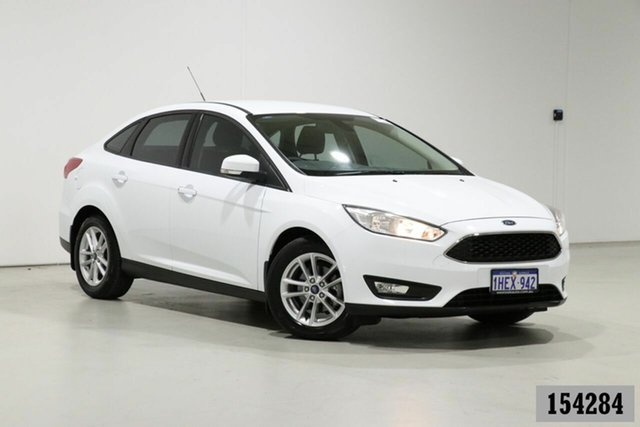 Used Ford Focus LZ Trend Bentley, 2016 Ford Focus LZ Trend White 6 Speed Automatic Sedan