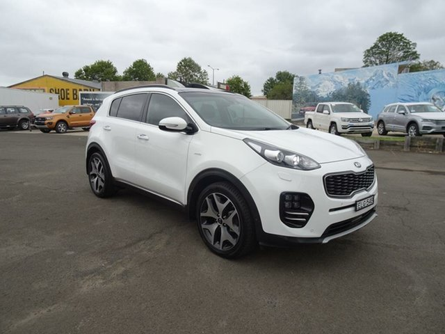 Used Kia Sportage QL MY18 GT-Line AWD Nowra, 2018 Kia Sportage QL MY18 GT-Line AWD White 6 Speed Sports Automatic Wagon