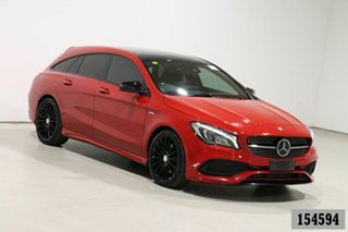 2017 Mercedes-Benz CLA250 Shooting Brake 117 MY17 4Matic Jupiter Red 7 Speed Auto Dual Clutch Wagon