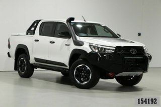 2019 Toyota Hilux GUN126R MY19 Rugged X (4x4) White 6 Speed Automatic Double Cab Pick Up.