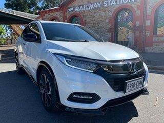 2020 Honda HR-V MY21 RS Metallic White 1 Speed Constant Variable Hatchback.