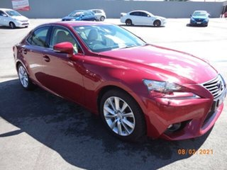 2015 Lexus IS300H AVE30R MY16 Luxury Hybrid Red Continuous Variable Sedan.