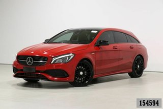 2017 Mercedes-Benz CLA250 Shooting Brake 117 MY17 4Matic Jupiter Red 7 Speed Auto Dual Clutch Wagon.