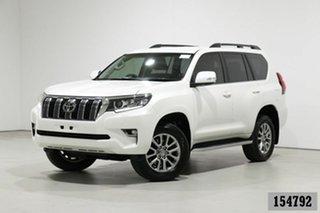 2019 Toyota Landcruiser Prado GDJ150R MY18 VX (4x4) Pearl White 6 Speed Automatic Wagon.
