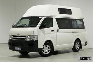 2009 Toyota HiAce TRH201R MY07 Upgrade LWB White 5 Speed Manual Van.