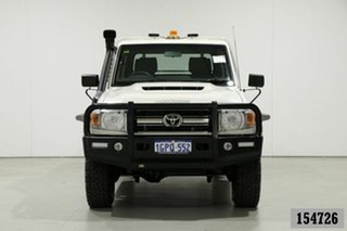 2018 Toyota Landcruiser VDJ79R GXL (4x4) White 5 Speed Manual Double Cab Chassis.