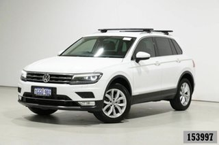 2017 Volkswagen Tiguan 5NA 140 TDI Highline White 7 Speed Auto Direct Shift Wagon.