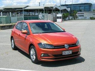 2018 Volkswagen Polo AW MY19 85TSI Comfortline Orange 7 Speed Auto Direct Shift Hatchback.