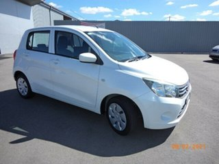2015 Suzuki Celerio LF White Continuous Variable Hatchback.