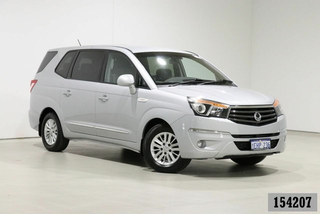 Used Ssangyong Stavic A100 08 Upgrade 2.7 XDI Bentley, 2013 Ssangyong Stavic A100 08 Upgrade 2.7 XDI Silver 5 Speed Automatic Wagon