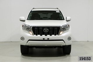 2015 Toyota Landcruiser Prado KDJ150R MY15 Altitude (4x4) Pearl White 5 Speed Sequential Auto Wagon.