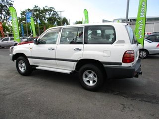 1998 Toyota Landcruiser White 4 Speed Automatic Wagon