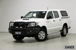 2013 Toyota Hilux KUN26R MY12 SR (4x4) White 5 Speed Manual Dual Cab Pick-up.