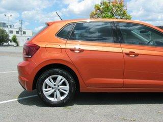 2018 Volkswagen Polo AW MY19 85TSI Comfortline Orange 7 Speed Auto Direct Shift Hatchback