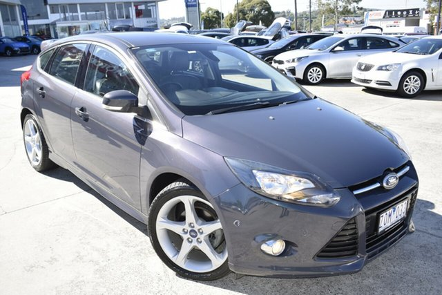 Used Ford Focus LW MkII Titanium PwrShift Ferntree Gully, 2012 Ford Focus LW MkII Titanium PwrShift Blue 6 Speed Sports Automatic Dual Clutch Hatchback
