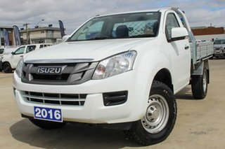 2016 Isuzu D-MAX MY15.5 SX 4x2 High Ride White 5 Speed Sports Automatic Cab Chassis.