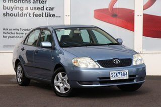 2003 Toyota Corolla ZZE122R Ascent Blue 4 Speed Automatic Sedan.