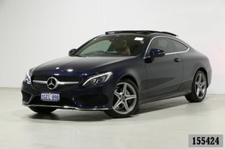 2017 Mercedes-Benz C200 205 MY17 Blue 9 Speed Automatic G-Tronic Coupe.