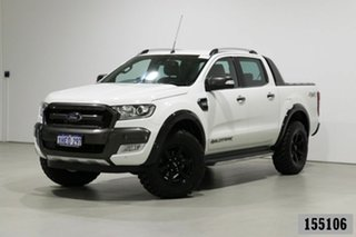 2016 Ford Ranger PX MkII Wildtrak 3.2 (4x4) White 6 Speed Automatic Dual Cab Pick-up.