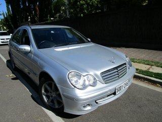 2005 Mercedes-Benz C180 W203 Upgrade Kompressor Classic Silver 5 Speed Auto Tipshift Sedan.