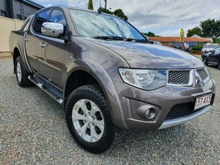 2015 Mitsubishi Triton MN MY15 GLX-R Double Cab Brown 5 Speed Sports Automatic Utility.