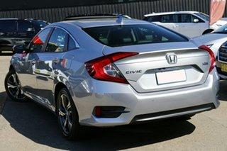 2021 Honda Civic 10th Gen MY20 VTi-LX Lunar Silver 1 Speed Constant Variable Sedan.