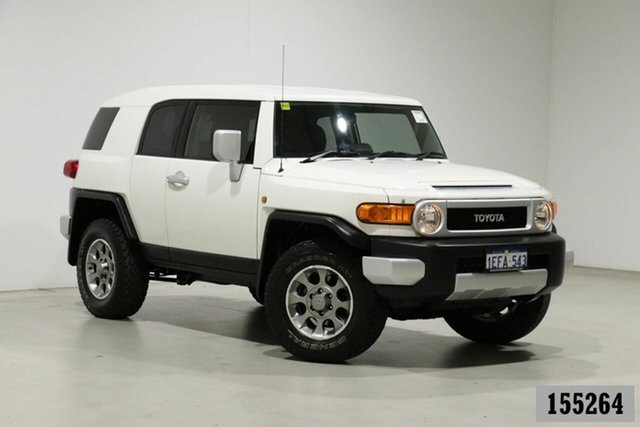 Used Toyota FJ Cruiser GSJ15R Bentley, 2013 Toyota FJ Cruiser GSJ15R White 5 Speed Automatic Wagon