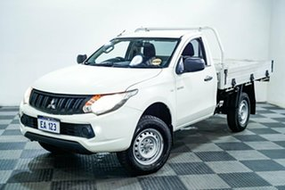 2017 Mitsubishi Triton MQ MY17 GLX 4x2 White 5 Speed Sports Automatic Cab Chassis.