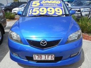 2003 Mazda 2 DY10Y1 Genki Blue 5 Speed Manual Hatchback.