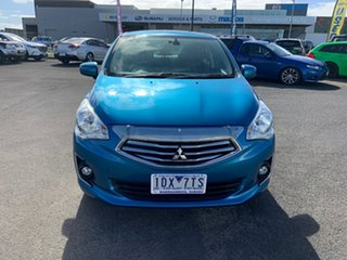 2014 Mitsubishi Mirage LA MY15 LS Blue 1 Speed Constant Variable Sedan.