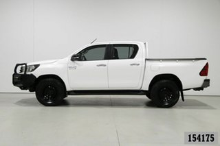 2016 Toyota Hilux GUN126R SR (4x4) White 6 Speed Manual Dual Cab Utility