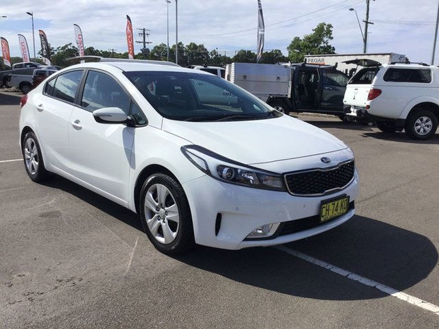 Used Kia Cerato YD MY17 S Cardiff, 2016 Kia Cerato YD MY17 S White 6 Speed Sports Automatic Sedan